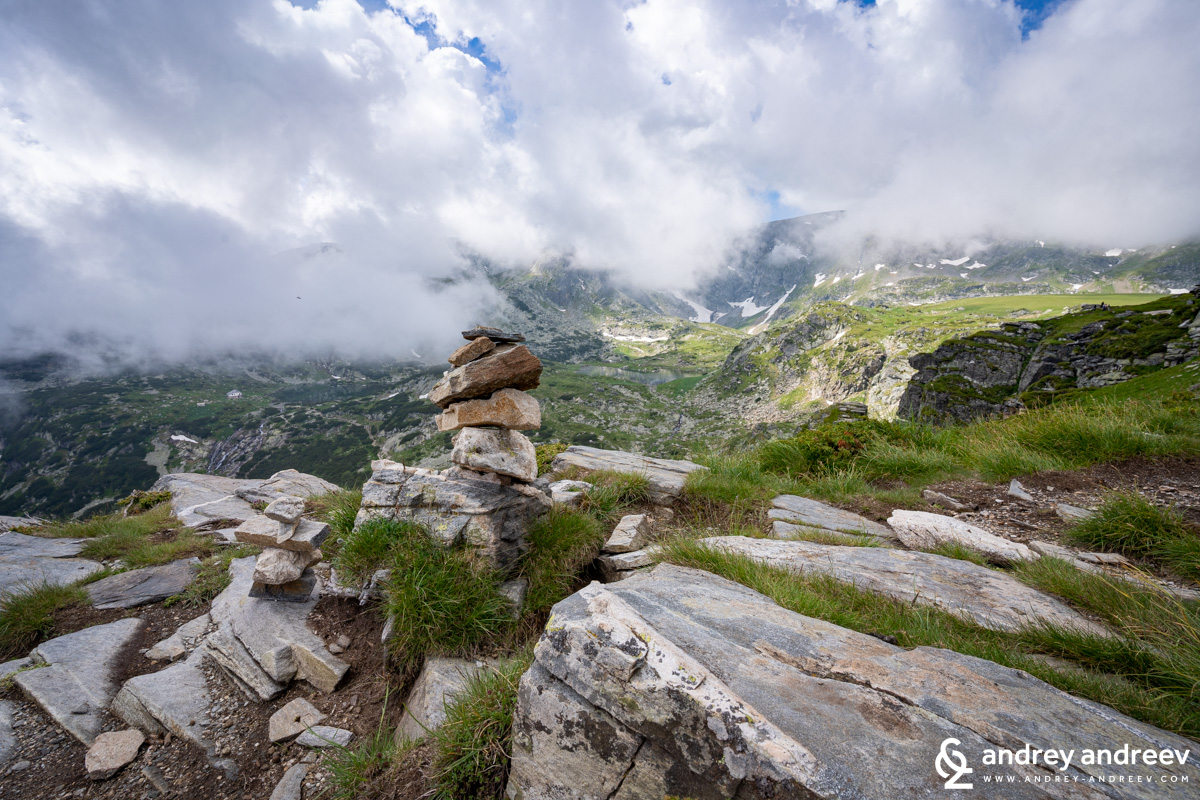 The clouds sometimes contribute to the better photo but sometimes they could hide the view at all - Seven Rila Lakes