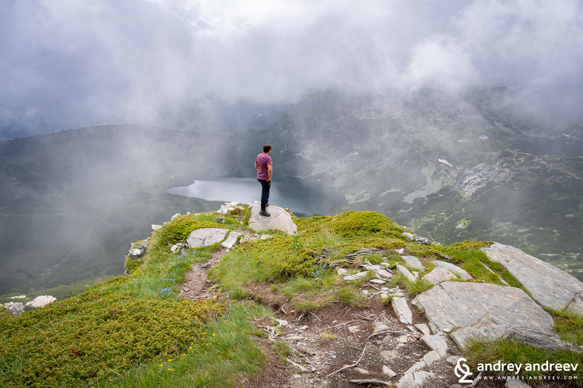 Andrey above one of the Seven Rila Lakes