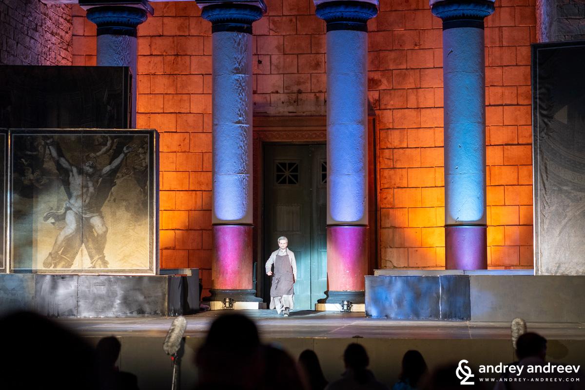 Тоска, представление на Софийската опера и балет на римския площад в Киноцентър Бояна