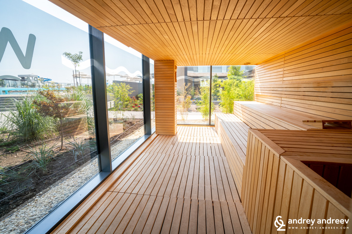 The sauna with a view which is included in the Ultra All Inclusive package