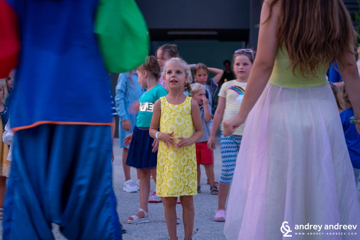 Anna during children's disco