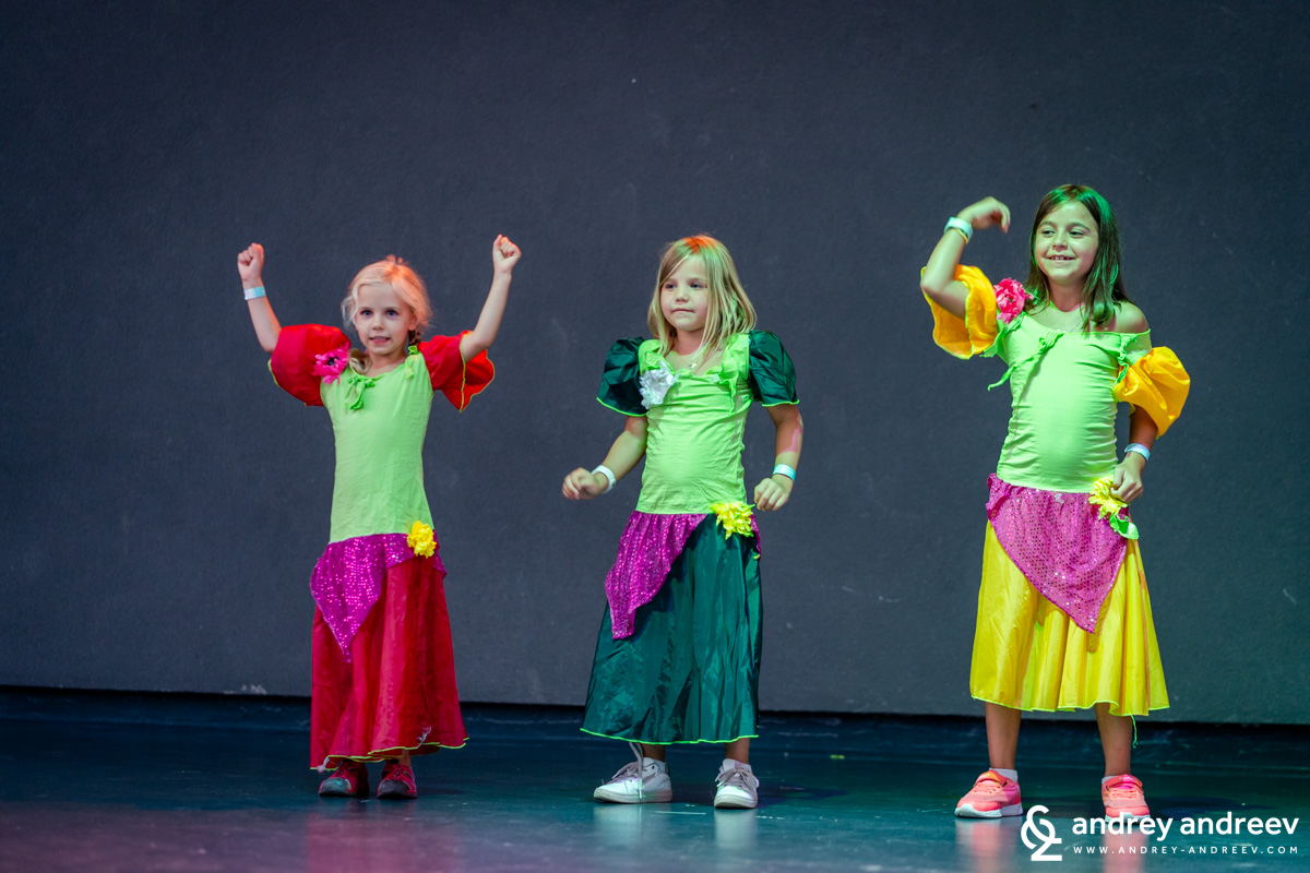Anna (left) dancing Spanish dances