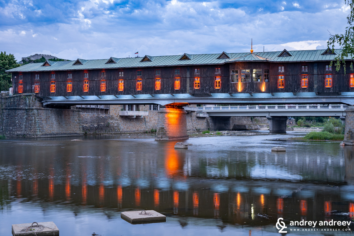The covered bridge on sunset - Lovech, Bulgaria