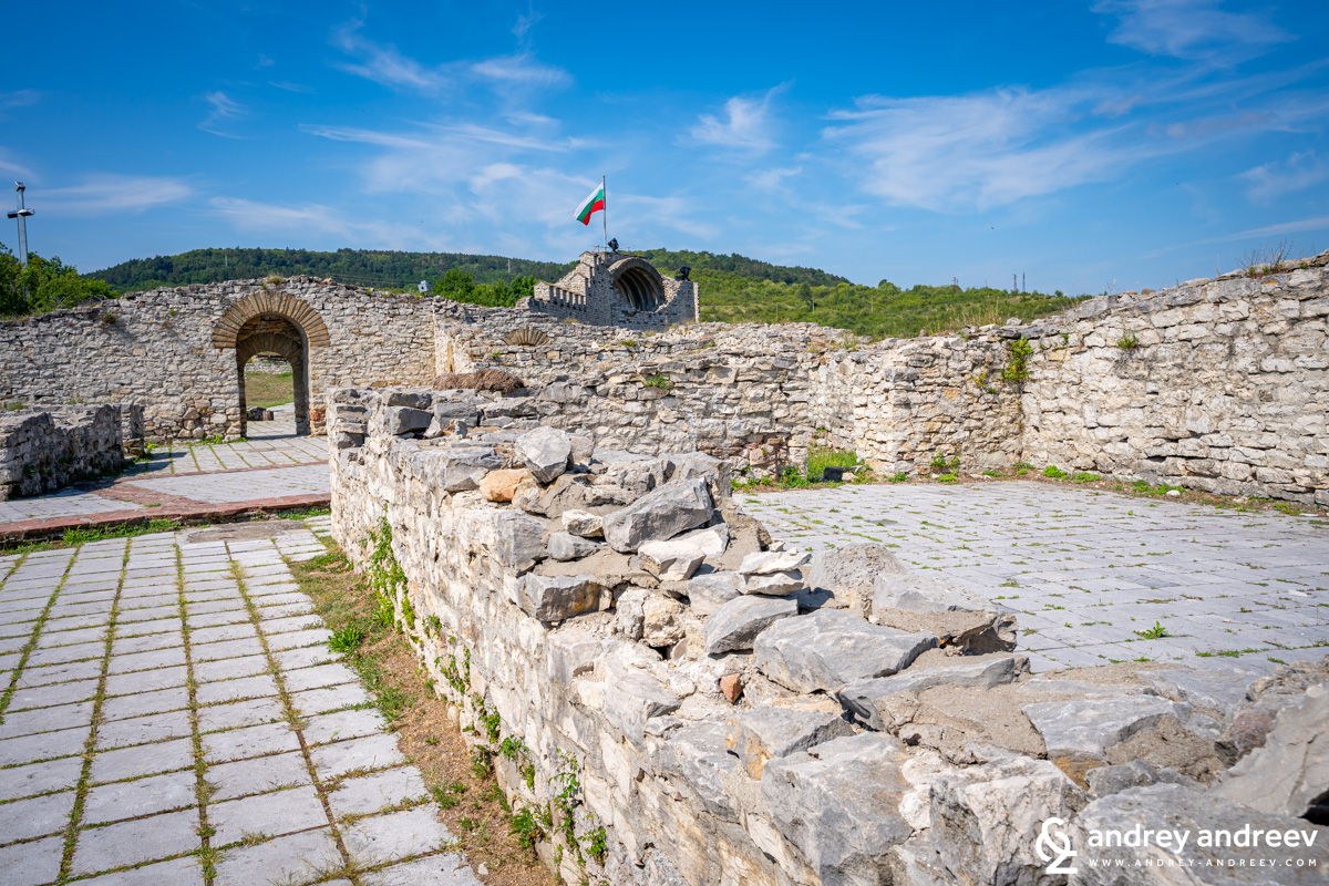 The restored walls of the Lovech fortress