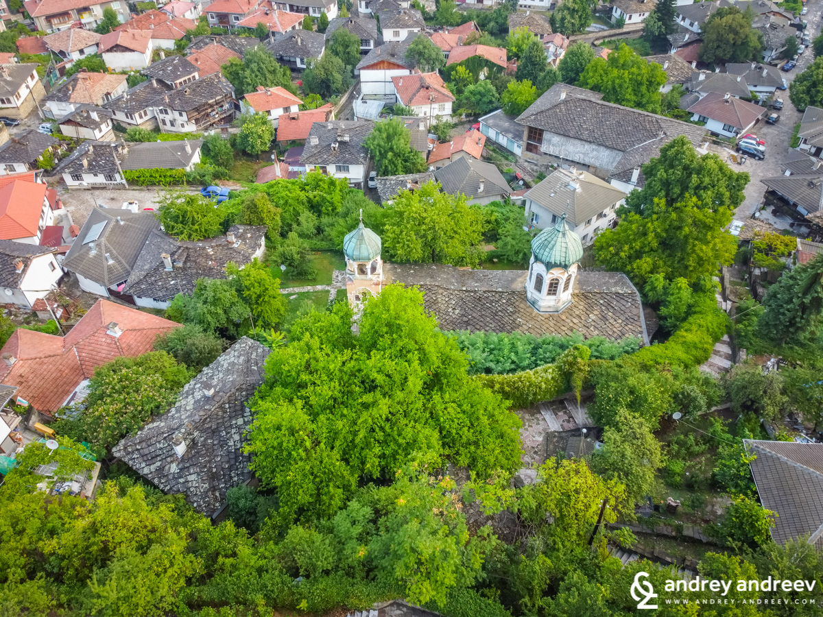 Assumption of Virgin Mary church in Lovech, aerial view