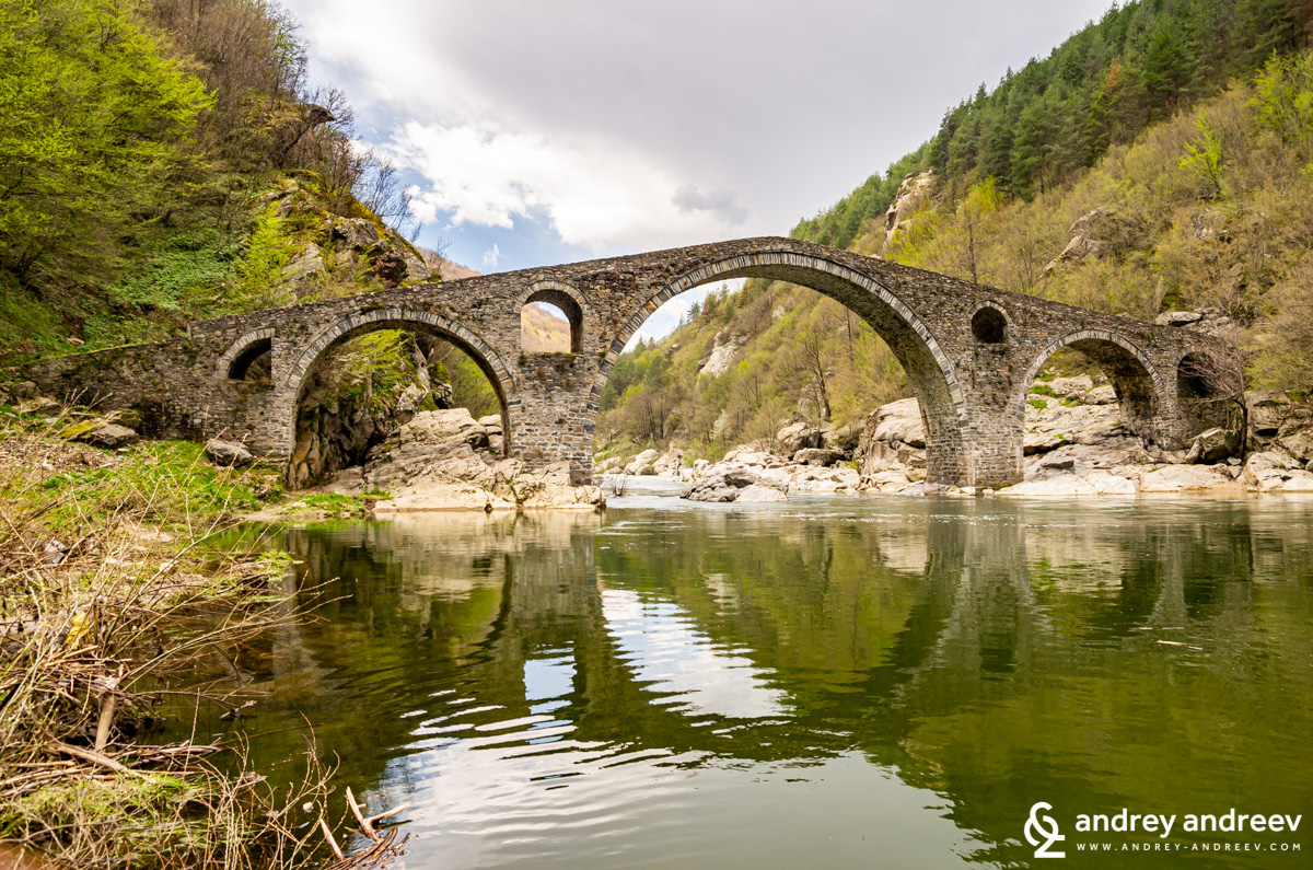 The Devil's Bridge on Arda river in Bulgaria