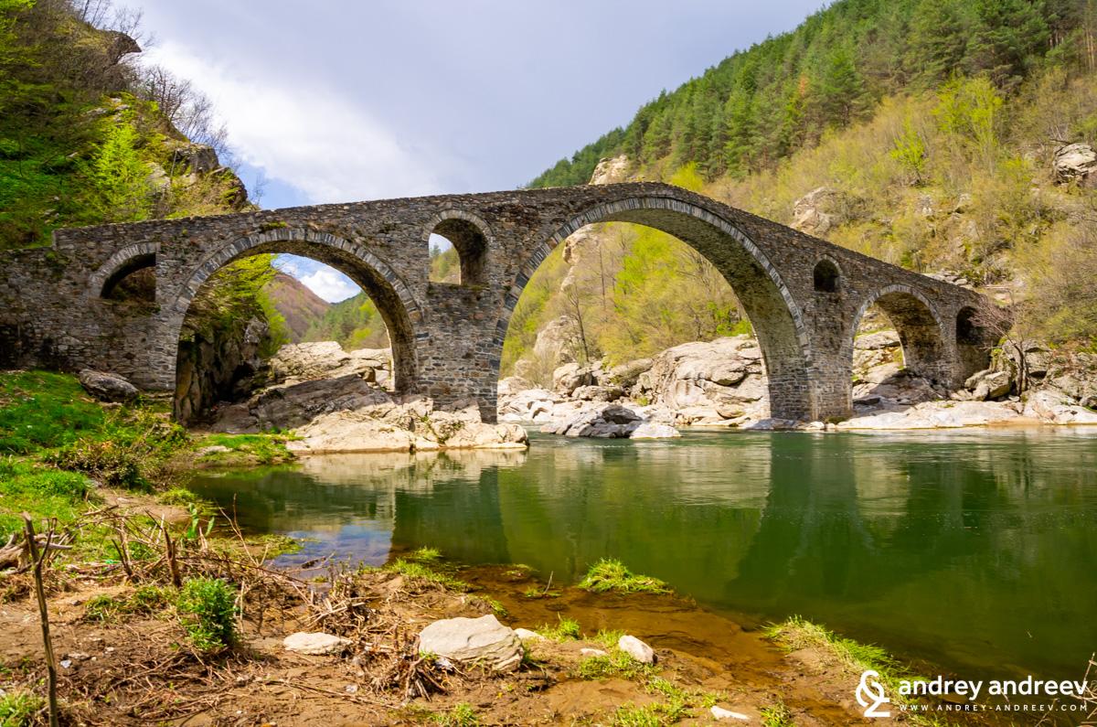 The Devil's Bridge in Bulgaria, Rhodope mountains - old Ottoman bridge