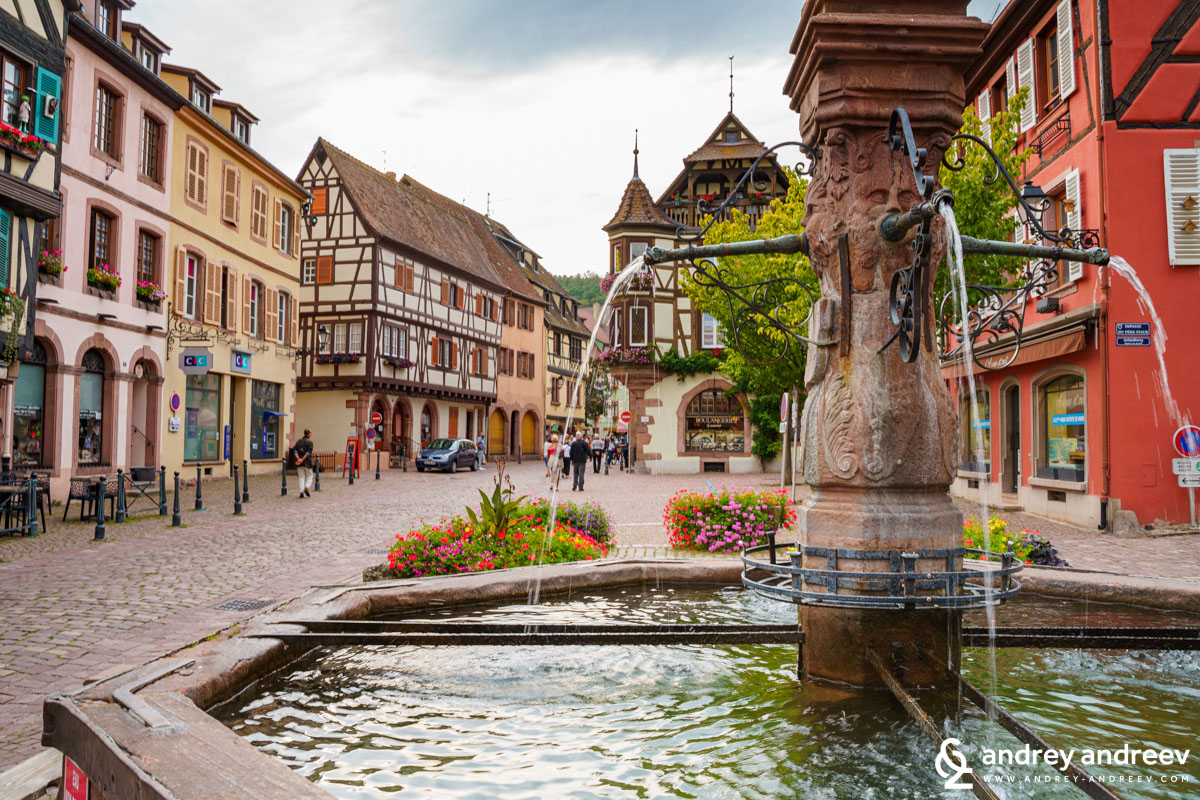 The town centre of Kaysersberg, France