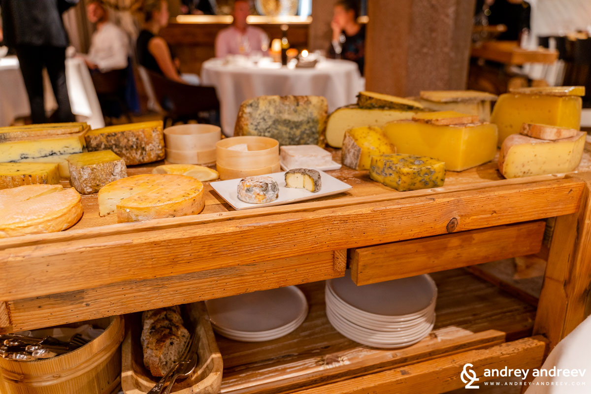 The cheese cart at Le Chambard
