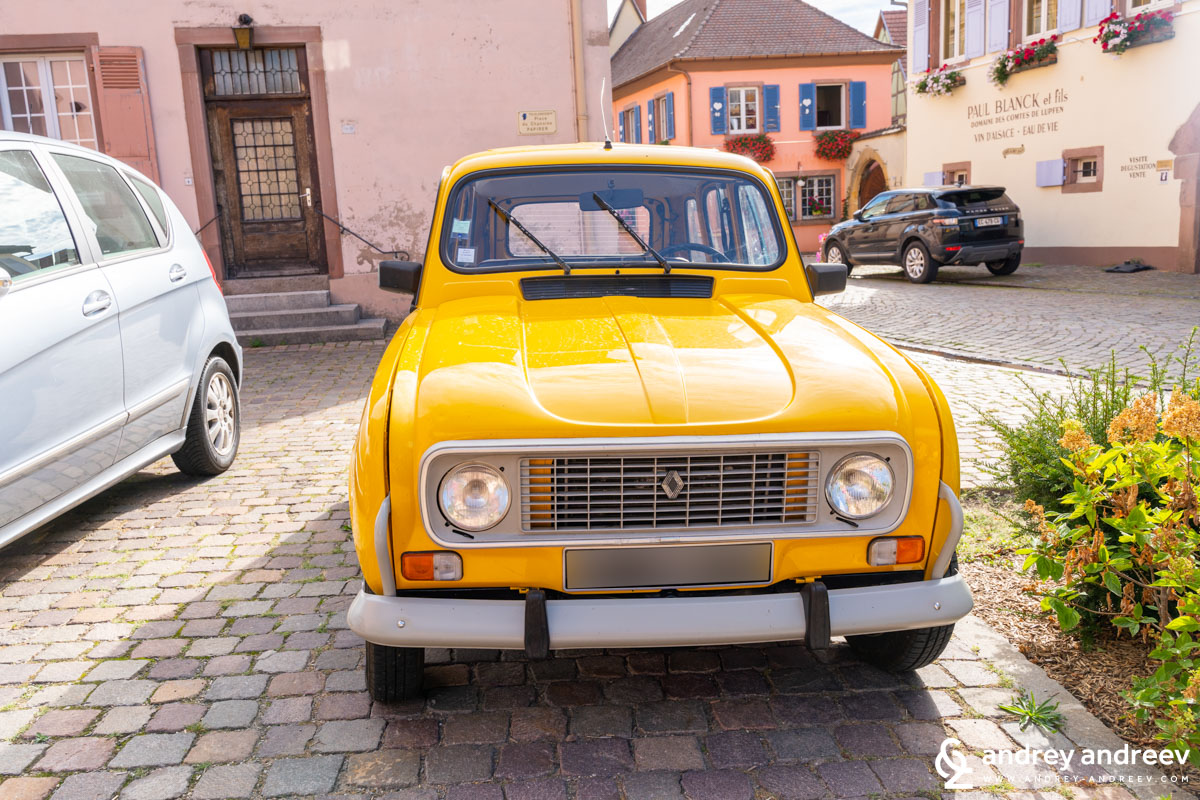 The small yellow Renault car