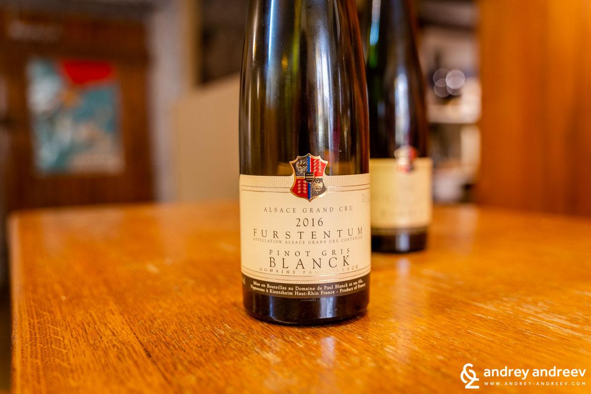 Pinot Gris Furstentum 2016 - Domain Paul Blanck et Fils