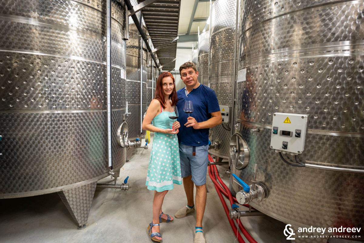 Maria and Andrey at Zlaten Rozhen winery, Bulgaria
