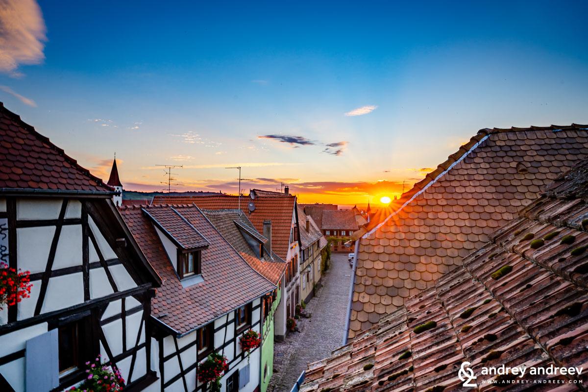 Beautiful morning in Ammerschwihr