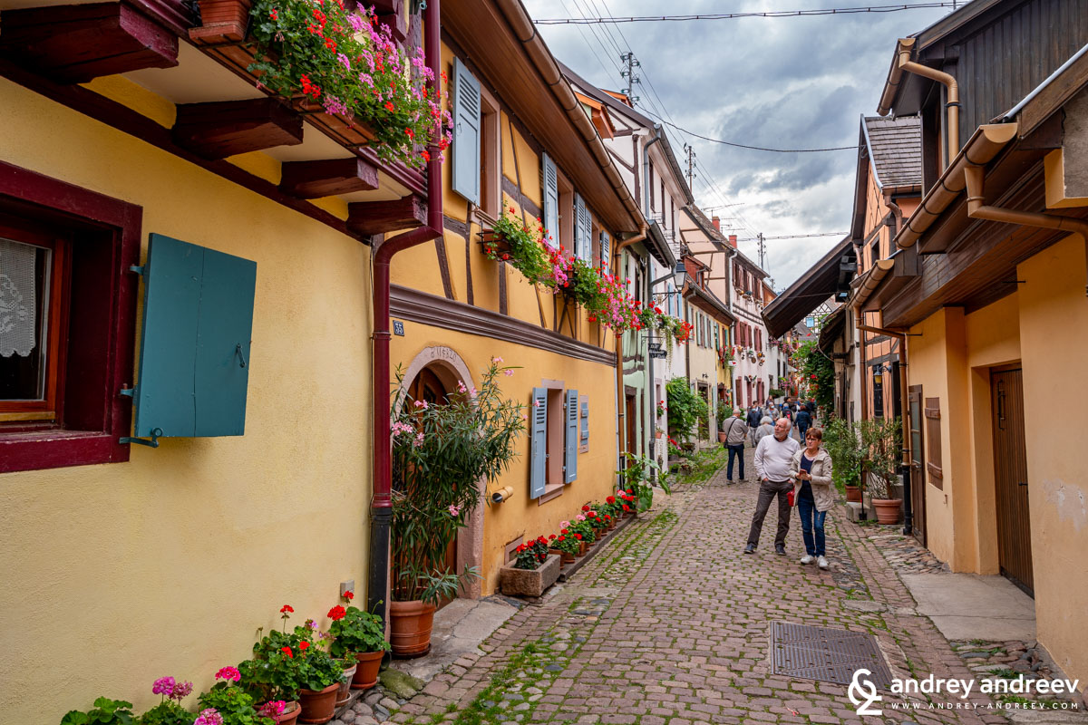 Almost everyone fall in love with Eguisheim for its romantic atmosphere