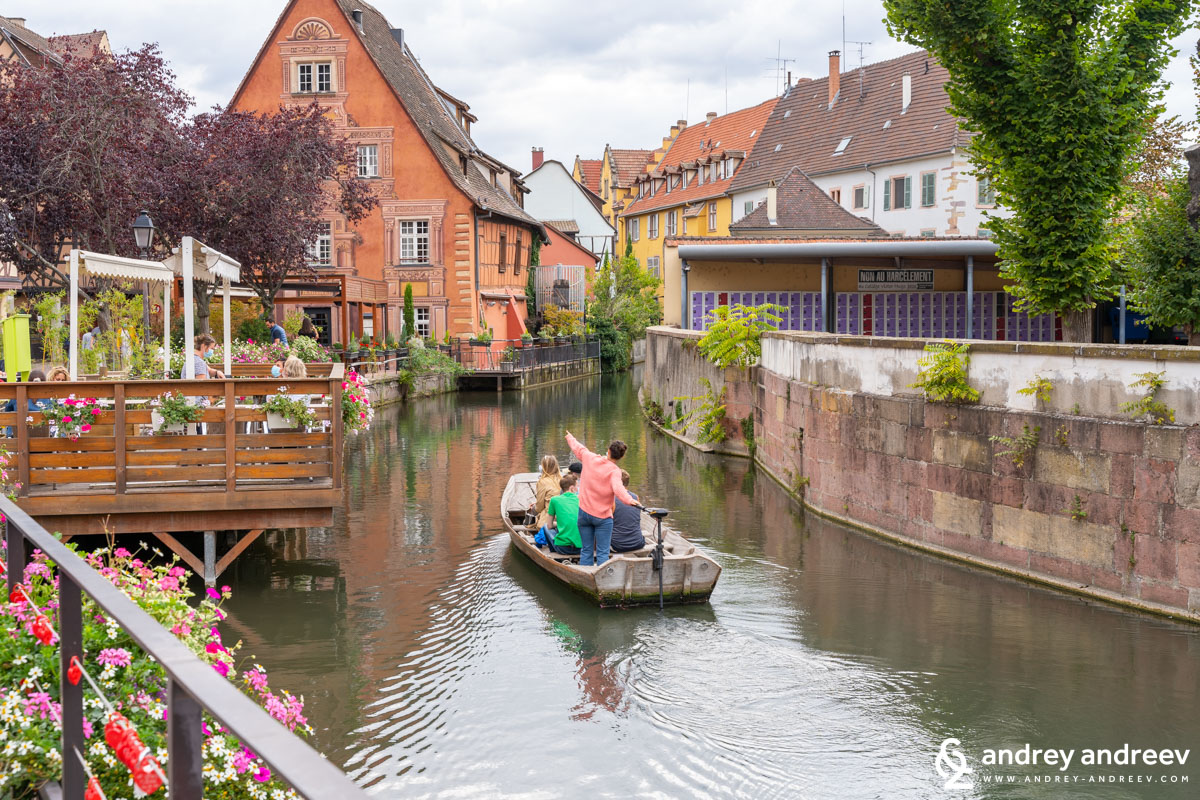 The river flowing through the Little Venice quarter in Colmar