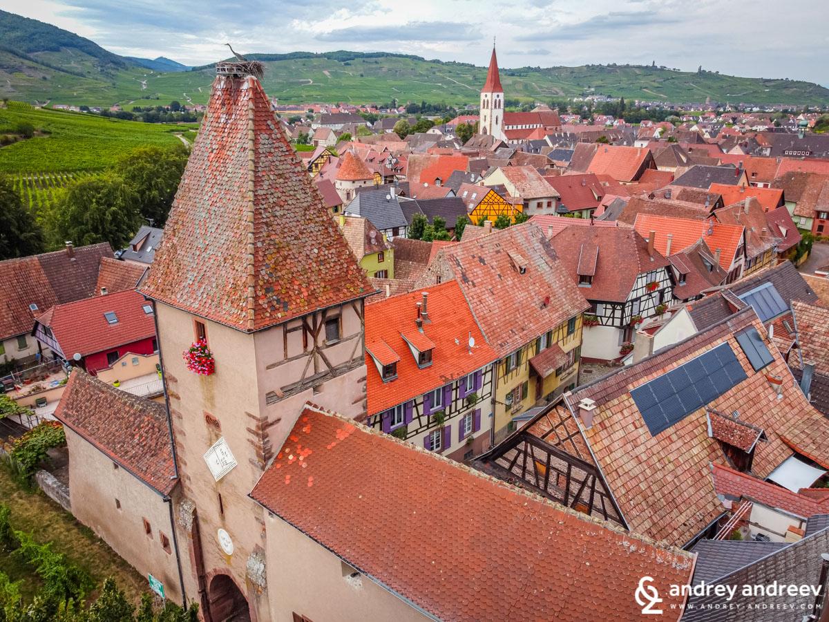 The village of Ammerschwihr, where we stayed