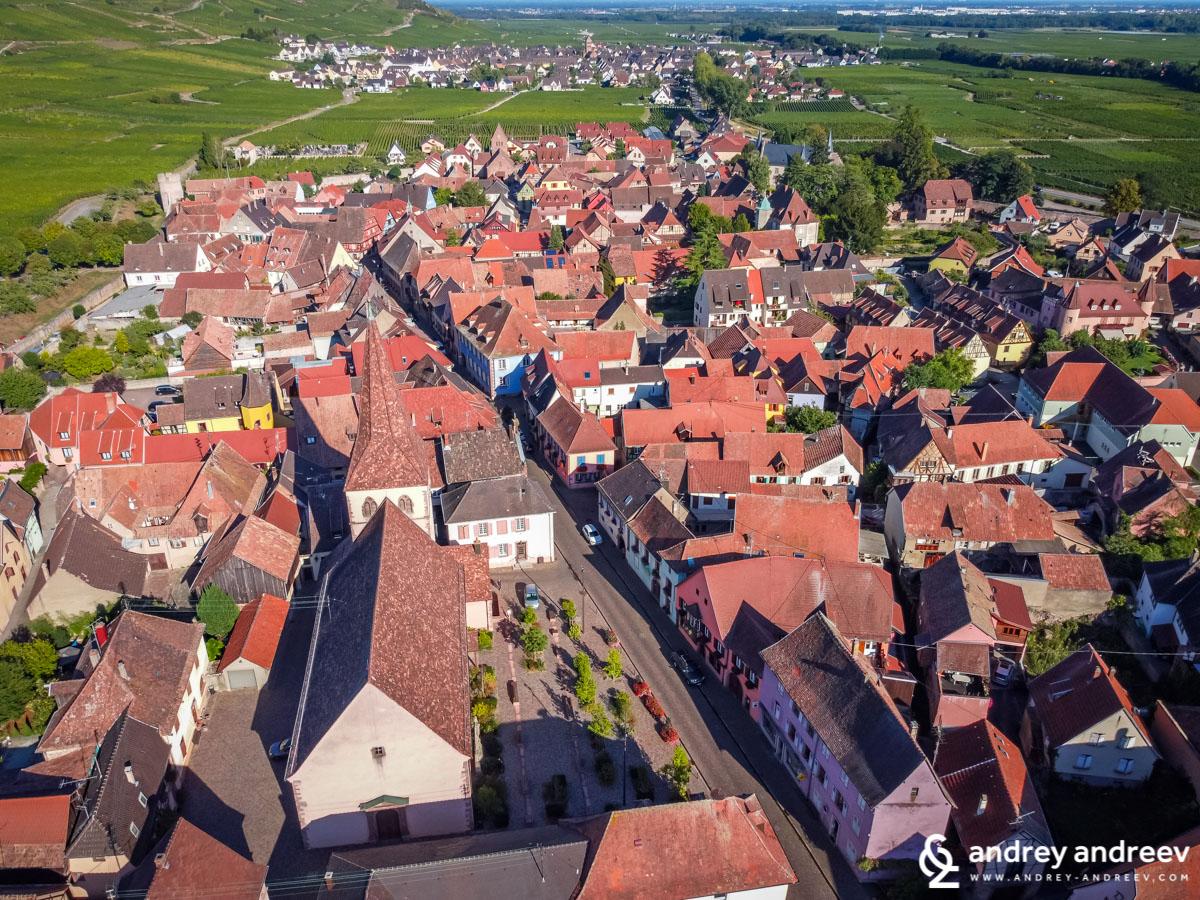 Kientzheim seen from the air